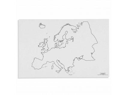 Mapa Evropy – slepá