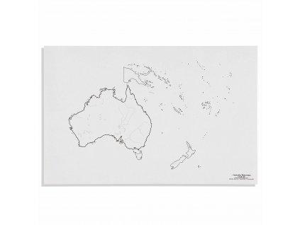 Mapa Austrálie – vodní toky, v angličtině