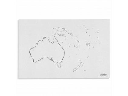 Mapa Australie – slepá