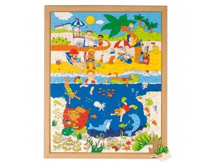 Puzzle Nahoře a pod povrchem - u moře (120 dílků)