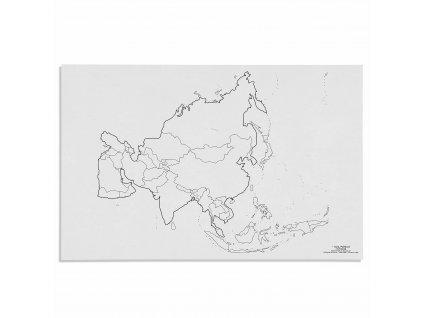Mapa Asie – politická, v angličtině