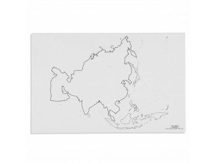 Mapa Asie – slepá