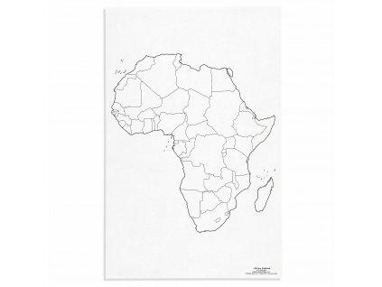 Mapa Afriky – politická, v angličtině