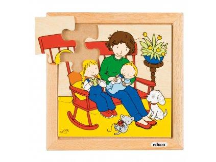 Puzzle Rodina - Miminko - krmení (9 dílků)