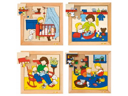 Family puzzles - New baby - complete set of 4