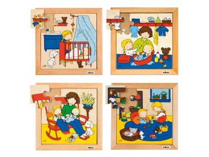 Puzzle Rodina - kompletní sada 4 puzzle
