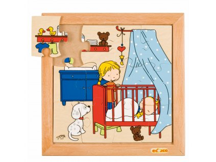 Family puzzles - New baby - sleeping (12 pieces)