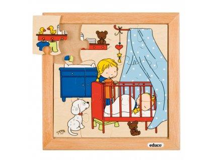 Puzzle Rodina - Miminko - spaní (12 dílků)