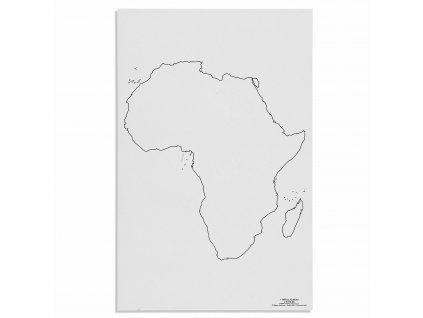 Mapa Afriky – slepá