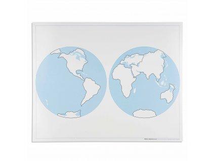 Kontrolní slepá mapa světa