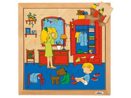 Puzzle Osobní hygiena - oblékání (25 dílků)
