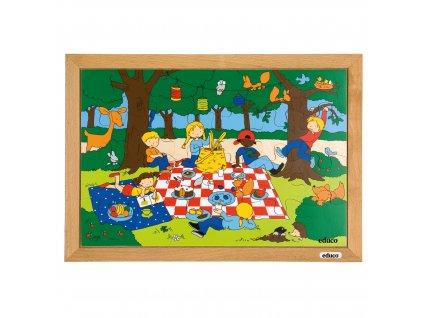 Children's activities puzzles - the picnic