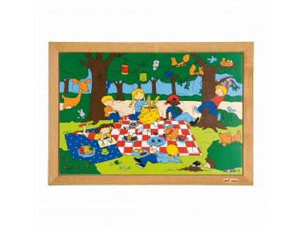 Children's activities puzzles - the playground