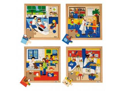 Puzzle - Mé zdraví, sada 4 ks