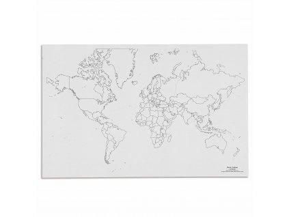 Mapa světa – politická, v angličtině