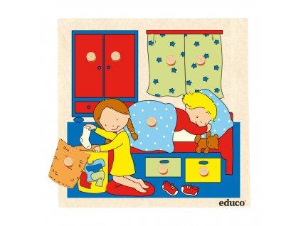 Puzzle s úchyty a překvapením - ložnice