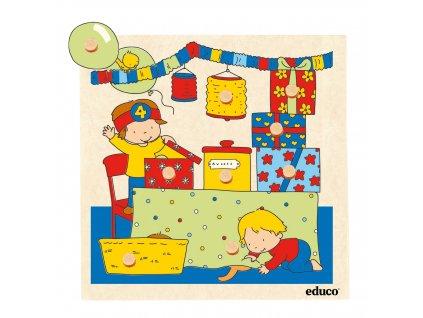 Puzzle s úchyty a překvapením - obývací pokoj