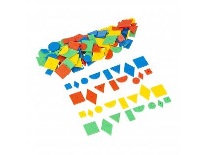 Happy hammer geo set of plastic shapes (contens 144 pcs)