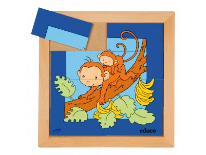 Animals puzzles - Mother and child - monkey (8 pieces)