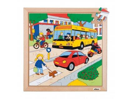Puzzle Doprava - dopravní provoz (49 dílků)