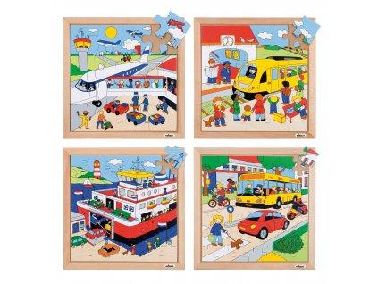 Puzzle Doprava - kompletní sada 4