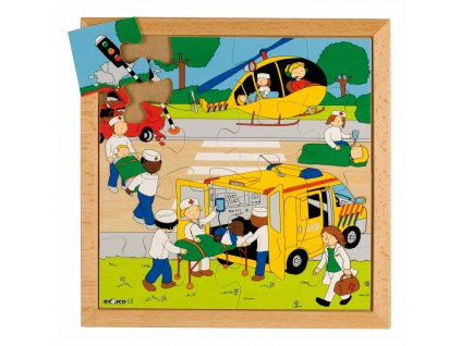 Street Action puzzles - accident (16 pieces)