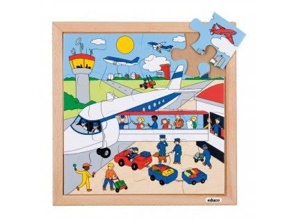 Puzzle Doprava - letiště (16 dílků)