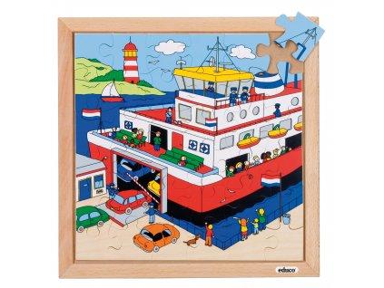 Puzzle Doprava - přívoz (36 dílků)