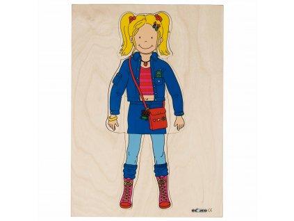Oblékací puzzle - holka