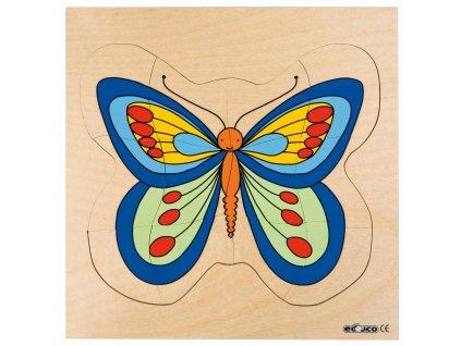 Vývojové puzzle - motýl