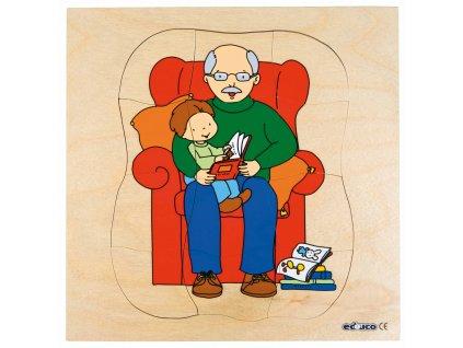 Vývojové puzzle - dědeček