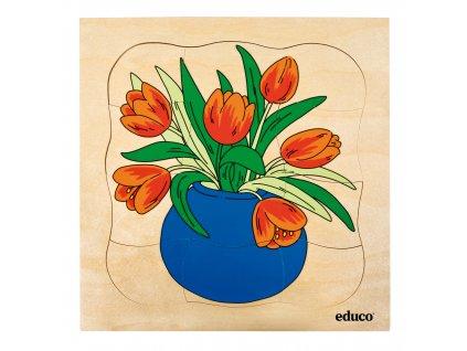 Vývojové puzzle - tulipán
