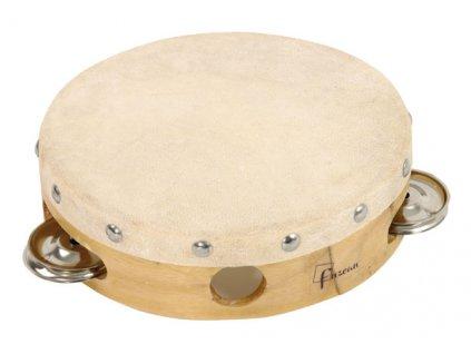 Dřevěná tamburína dvouřadá