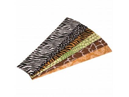 Krepový papír Floriade, zvířecí vzor
