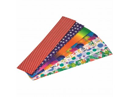 Crepe paper Floriade folded sheet 250 x 50 cm, party print assorted (7)