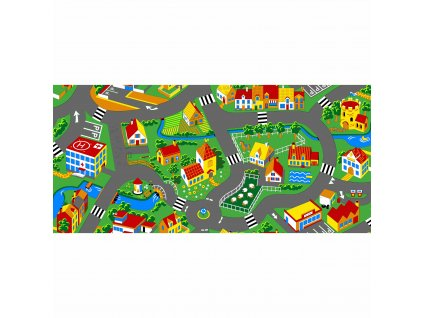 Traffic play mat, city