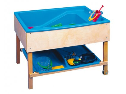 Sand-water table tray