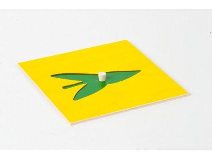Botanická komoda: Šípovitý list, vložený tvar