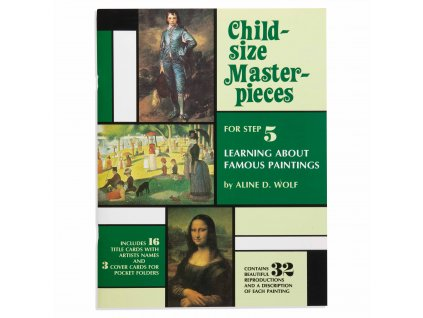 BOOK CHILD-SIZE MASTERPIECES FAMOUS PAINTINGS – LEVEL 5