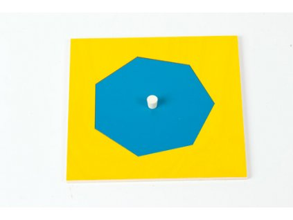 Geometric Cabinet Inset: Heptagon