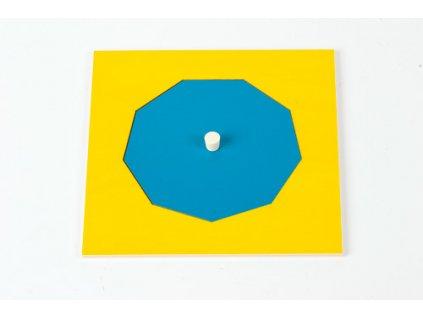 Geometric Cabinet Inset: Nonagon