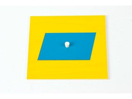 Geometric Cabinet Inset: Parallelogram 9.2 x 6