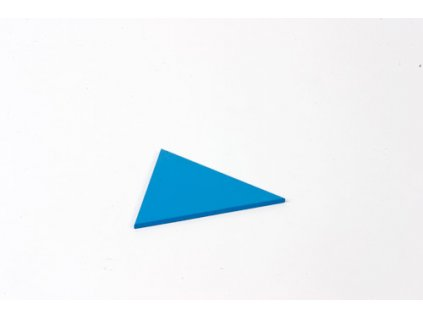 Blue Rectangle Box: Equilateral Triangle - Blue
