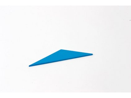 Blue Rectangle Box: Small Scalene Triangle - Blue