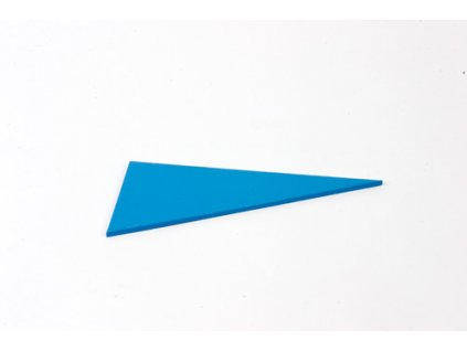 Blue Rectangle Box: Right-Angled Scalene Triangle - Blue