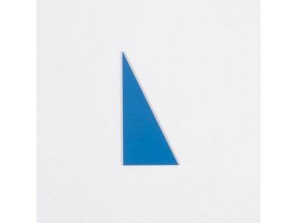 Blue Rectangle Box: Large Scalene Triangle - Blue