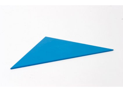 Blue Rectangle Box: Right-Angled Isosceles Triangle - Blue