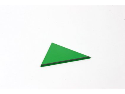Small Hexagon Box: Equilateral Triangle - Green _