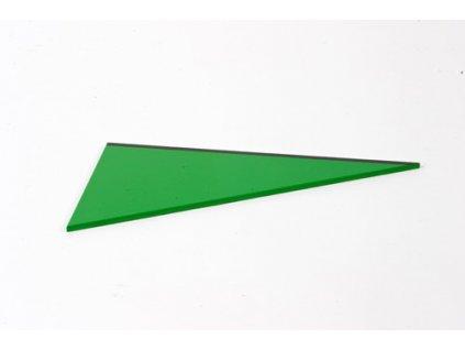 Triangle Box: Right-Angled Scalene  Triangle - Green Left - |