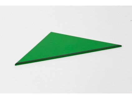 Rectangle Box: Right-Angled Isosceles Triangle - Green \